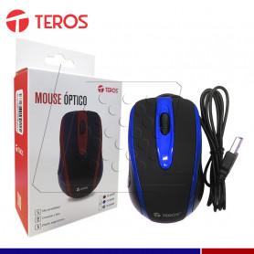 MOUSE TEROS USB TE-5041B NEGRO/AZUL