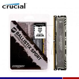 MEM. RAM CRUCIAL BALLISTIX LT GRAY 16GB DDR4 2666 MHZ