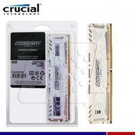 MEM. RAM CRUCIAL BALLISTIX WHITE 4GB DDR4 2400 MHZ.