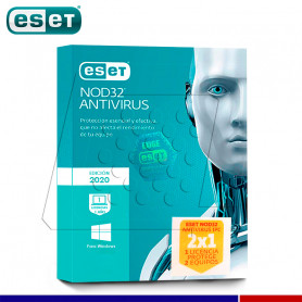 SOFTWARE ANTIVIRUS ESET NOD32 2020 PROMO 2 X 1