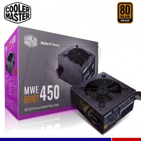 FUENTE CM MWE 450W 80 PLUS BRONZE V2