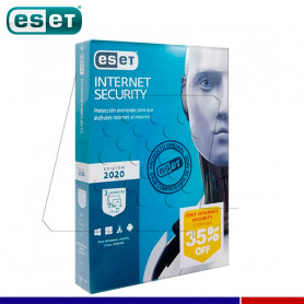 SOFTWARE ESET INTERNET SECURITY 2020 3PC
