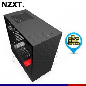 CASE NZXT H510 NEGRO / ROJO VIDRIO TEMPLADO.