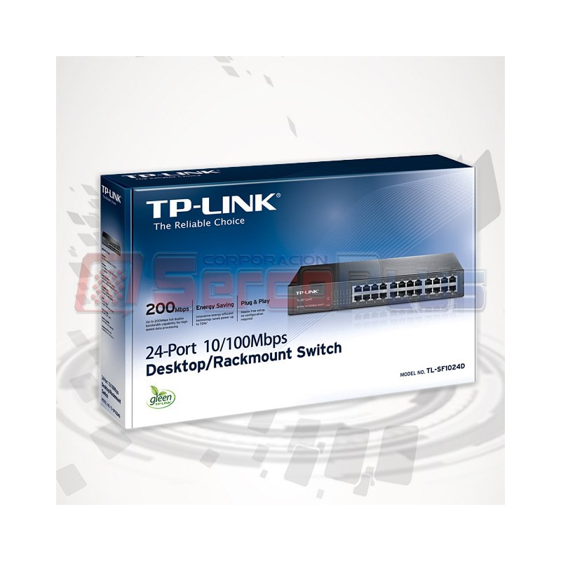 SWITCH TP-LINK 24 PORT 10/100 TL-SF1024D