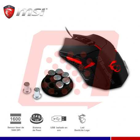 MOUSE MSI GAMER INTERCEPTOR DS B1 USB