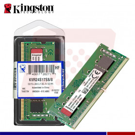 MEMORIA RAM 8GB DDR4 2400 SODIMM KINGSTO