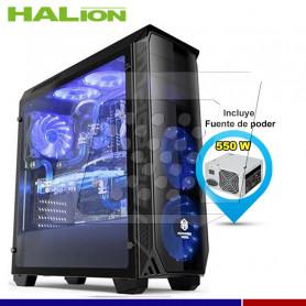 CASE GAMER HALION SHADOW AZUL 550W