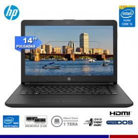 "NOTEBOOK HP 14-BS026LA INTEL CORE I5-7200 8GB 1TB 14"" FREE DOS"