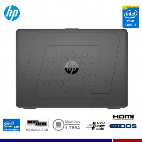 "NOTEBOOK HP 14-BS026LA INTEL CORE I5-7200 8GB 1TB 14"" FREE DOS"