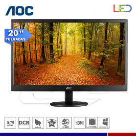 "MONITOR AOC E2070SWH 19.5"" LED VGA-HDMI"