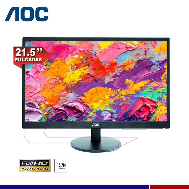 """MONITOR LED AOC E2270SWN 21.5"""" HDMI-VGA"""
