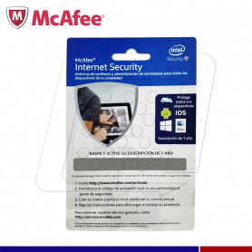 MCAFEE INTERNET SECURITY 1PC 12 MESES