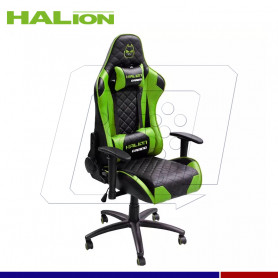 SILLA GAMER HALION HA-S41 N/VERDE