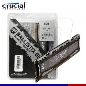 MEM. RAM CRUCIAL BALLISTIX 8GB DDR4 2666 MHZ