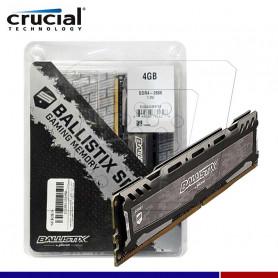 MEMORIA RAM CRUCIAL BALLISTIX LT GRAY 4GB DDR4 2666 MHZ