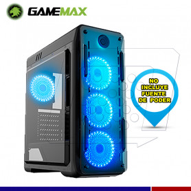 CASE GAMER GAMEMAX KINGLITE LED AZUL
