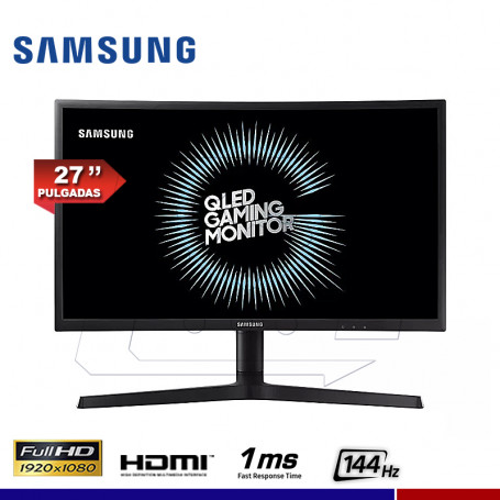"MONITOR GAMING SAMSUNG LC27FG73FQLXPE 27"", CURVO, FHD, 144Hz, 1ms. FREESYNC."