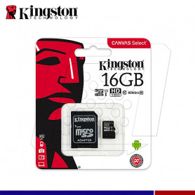 MICRO SD KINGSTON CANVAS 16GB C10