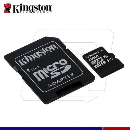 MICRO SD KINGSTON CANVAS 16GB C10