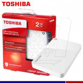 EXTERNO TOSHIBA CANVIO ADVANCE 2TB BLANC