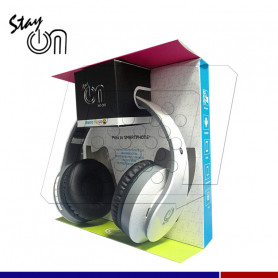 AUDIFONO STAY ON BLUETOOTH HO-201 BLANCO
