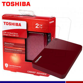 EXTERNO TOSHIBA CANVIO ADVANCE 2TB ROJO