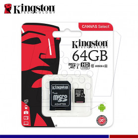 MICRO SD KINGSTON CANVAS 64GB C10