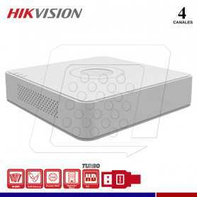 DVR HIKVISION DS-7104HQHI-K1 4 CANALES