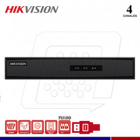 DVR HIKVISION DS-7204HGHI-F1 4 CANALES