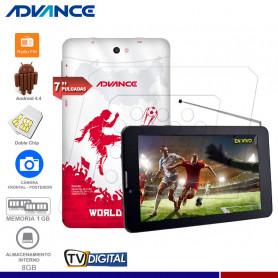 "TABLET ADVANCE PRIME PR6145 7"" TV DIGITAL 3G DUAL SIM"