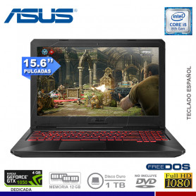 NOTEBOOK GAMING ASUS TUF FX504GD-DM328 INTEL CORE I5 8300HQ 1TB 12G 1TB VIDEO 4GB 15.6""