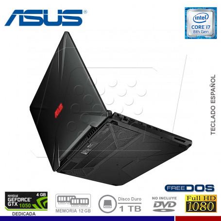 "NOTEBOOK GAMING ASUS TUF FX504GD-DM331 INTEL CORE I7 8750HQ 1TB 12G 1TB VIDEO 4GB 15.6"""