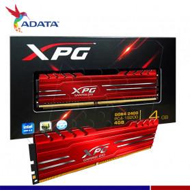 MEMORIA RAM A-DATA 4GB DDR4 2400 XPG GAMING ROJA