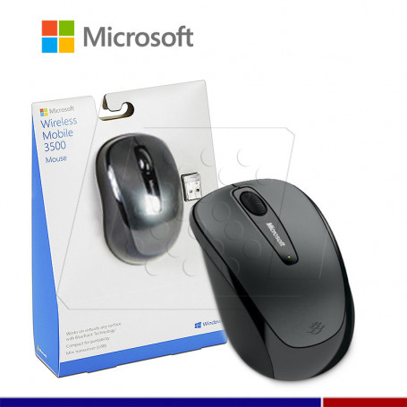 MOUSE MICROSOFT MOBILE 3500 BLUE TRACK GRIS