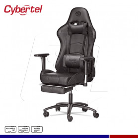 Silla Gamer Cybermax con reposapies Xtreme Black CX1000