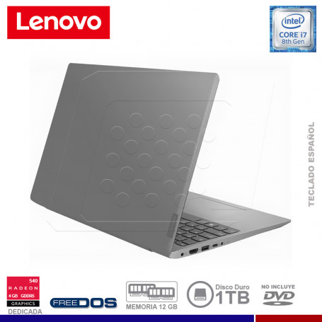 "NOTEBOOK LENOVO IDEAPAD 330S-15IKB INTEL CORE I7, 12GB RAM, HDD 1TB, 15"" , VIDEO 4GB RADEON GDDR5."