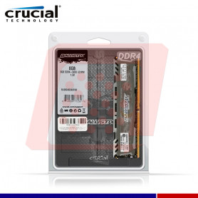 MEMORIA CRUCIAL BALLISTIX LT GRAY 8GB DDR4 2400