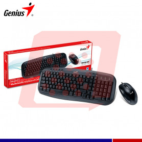KIT GENUS KM-210 USB TECLADO Y MOUSE