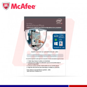 ANTIVIRUS MCAFEE PLUS 1PC