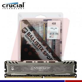 MEMORIA CRUCIAL BALLISTIX LT GRAY 4GB DDR4 2400