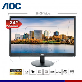 "MONITOR AOC LED 24"" M2470SWH"