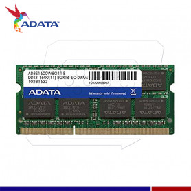 MEMORIA SODIM 8GB DDR3 1600 A-DATA