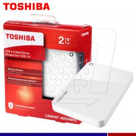 EXTERNO TOSHIBA CANVIO ADVANCE 2TB BLANC